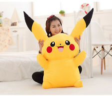 80Cm Big Digimon Pikachu Pokemon Plushies Giant Large Stuffed Toy Doll Pillow*