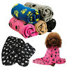 1Pc Cozy Paw Print Pet Cat Dog Fleece Soft Blanket  Bed Mat Cover