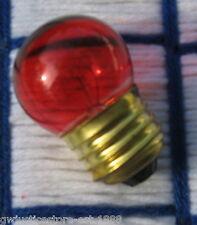 BOX of 25} OUTDOOR Christmas RED TINT regular base sign LIGHT BULBS 7.5 WATT S11