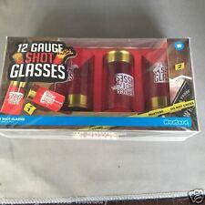12 Gauge Shot Glasses Printed Shot Glass Set/4 Bar Party shotgun shells NG5014