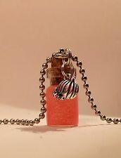 Handmade Pumpkin Juice Glass Bottle Necklace With Charm Fan Of Harry Potter