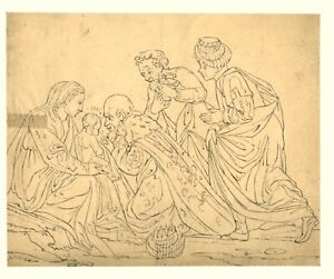 France 1800: The Adoration of the Magi, Touching Old Master Drawing