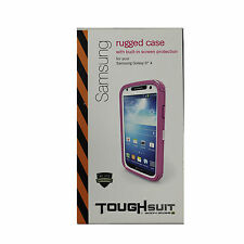 New OEM Body Glove Toughsuit Case Samsung Galaxy S4 Built-in Screen Protect Pink