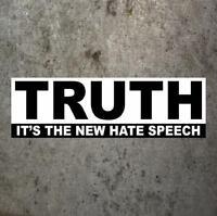 "Funny ""TRUTH: IT'S THE NEW HATE SPEECH"" conservative BUMPER STICKER anti-Obama"