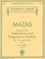 Jacques F. Mazas 75 Melodious And Progressive Studies Op.36 Book 1 Vl