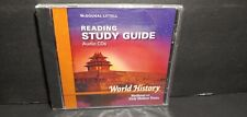 Mcdougal World History Medieval & Early Modern Times Reading Study Guide CD NEW