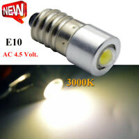 2xPETZL Zoom/Duo MES E10 Screw Amber LED Bulb COB UPGRADE LAMP Head Torch AC4.5V