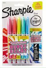 sharpie color burst fine tip limited edition pens pack of 5