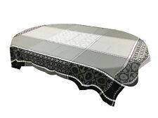 Jacquard  Ruco-guard Coated Tablecloth Marius Black Geometric  63 x 98.5 France