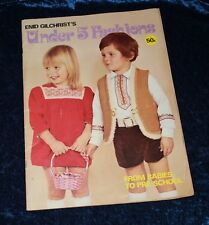 ENID GILCHRIST sewing pattern book UNDER 5 FASHIONS Babies to preschool vgvc