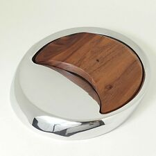 "Nambe 14"" Eclipse Cheese Tray! by Peter Stathis Danish Modern Design!"