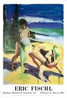 """ERIC FISCHL Untitled 49.5"""" x 35"""" Poster 1986 Multicolor, Yellow, Green"""