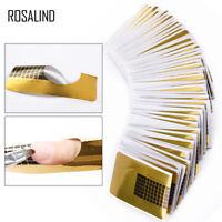 20-1000 pcs UV Gel Acrylic Nail Art Tip Decoration Extension Forms Sticker Giude