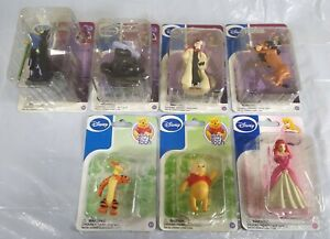 Disney Figurine Villains Captain Hook Cruella Ursula, Pooh, Tigger, Scar..7 Pack