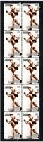 JACK DEMPSEY BOXING LEGEND STRIP OF 10 MINT VIGNETTE STAMPS 2