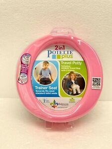 Kalencom  2-in-1 Portable Potty & Trainer and Liner Refills Bundle, Pink