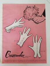 1951 Superb CRESCENDOE women's Fantasia Lento Scherzo gloves fashion ad