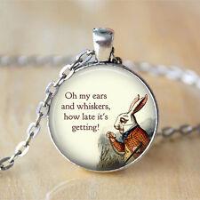 Alice In Wonderland  Jewelry • White Rabbit Alice chain Pendant Necklace