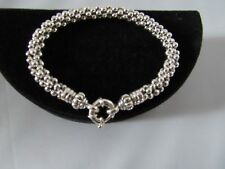 """LAGOS Sterling Silver Caviar Beaded Rope Bracelet – 7.5"""" – New $350  New"""