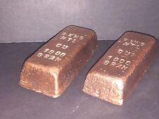One Thousand 1000 Gram 1 Kilo (35oz) Copper Bullion Bar~Hand Poured ~Ingot Loaf