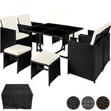 Conjunto muebles de jardín de  sillas taburetes poliratán sintético mesa
