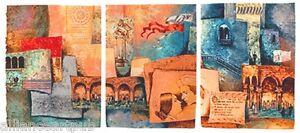 """ROMEO AND JULIET"" Intaglio Triptych on Hand Made Paper By Mikulas Kravjansky"