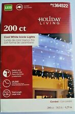 Holiday Living 200-Count Cool White Dome LED Christmas Icicle Lights or Wedding