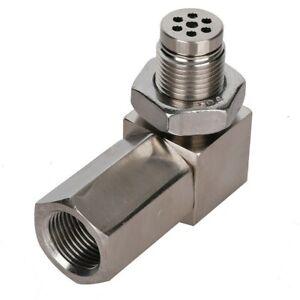 Angle O2 Sensor Spacer Adapter CEL Fix Bung Mini Catalytic Converter M18*1.5