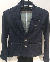 Levis Jeans Women's Denim Blazer Size M Medium