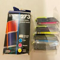 Epson 273 Black 273 Color Combo Ink Cartridges, Genuine, Plastic Bag is sealed