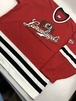 Leinenkugels Brewing Company CCM Hockey Jersey Leinie's Red Mens XL Extra Large