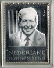 Nederland zilveren postzegel 2878 Prins Claus - Oranje in zilver (*)