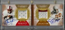 Exquisite auto Earl Campbell patch autograph Eric Dickerson jersey booklet #/5