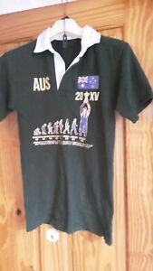 Ausie World Cup Rugby Shirt by Front Row size 11-13years.