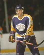 Los Angeles Kings Tiger Williams Signed Autographed 8x10 Photo COA A