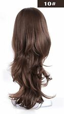 """OneDor 22"""" Slight Curly 3/4 Ladies Half Wig Kanekalon Hair Synthetic Wigs With Comb on a Mesh Head Cap (10)"""