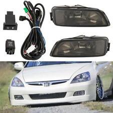 Pair Smoke Fog Light Bumper+Wiring Switch for 03-07 Honda Accord 04-08 Acura TL