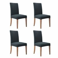 Hemons 4pcs Jacquard Removable Washable Dining Chair Cover Protector Seat for