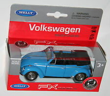 Welly - VW Volkswagen BEETLE CABRIO (Blue) Model Scale 1/39