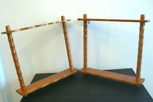 VINTAGE PAIR OF IMPORTS ENESCO WOODEN WALL HANGING SHELF 12'' X 11.5''.