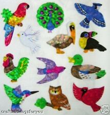 Sandylion Glittery BIRDS Scrapbooking Mini Stickers *03 SQUARES8 H77