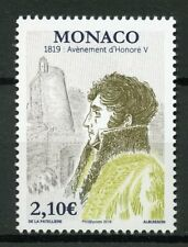 Monaco 2019 MNH Accession Honore V Bicentenary 1v Set Royalty People Stamps