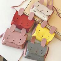 Children Kids Girl Shoulder Crossbody Bag PU Leather Rabbit Mini Cute Purse