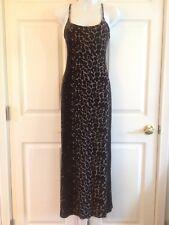a8fbe05980 Betsey Johnson Black Brown Tan Leopard Print Spaghetti Strap Velvet Dress  Size S