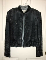 Draper's & Damon's black beaded jacket size 4p