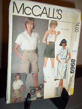 McCall's #68969 Sewing Pattern Misses Skirts Shorts Size 10 Waist 25  Uncut FF