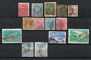 Uruguay stamps 1866 - 1961 Collection of 14 CLASSIC stamps