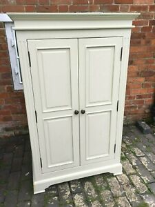Beautiful Stone Coloured Colonial Style Linen Cupboard