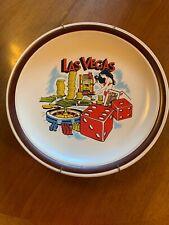 """Vintage 11"""" LAS VEGAS AG Hand Painted Decorative Collector Souvenir Plate Girls"""