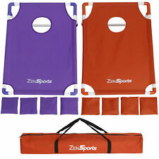 All-Weather Pvc Beanbag Toss Cornhole Game 8 Beanbags Tailgate Size W/Carry Case